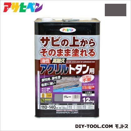 アサヒペン 油性高耐久アクリルトタン用塗料 グレー 12kg