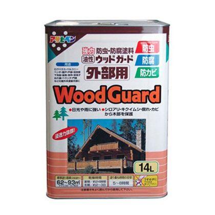 アサヒペン 油性ウッドガード外部用 チーク03 14L 屋外 防虫 木部