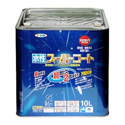 アサヒペン 水性スーパーコート ミルキーホワイト 10L