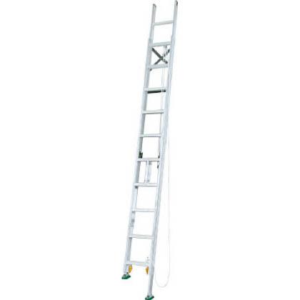 アルインコ 伸縮脚付2連はしご 全長:6.05m?6.37m 縮長:4.32m?4.64m 収納長:3.89m (MDE-64D) アルインコ ALINCO 2連はしご 梯子 ハシゴ はしご