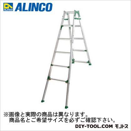 アルインコ 伸縮脚付はしご兼用脚立(高段差対応) ワイドステップ60mm 助立 (PRH1821FX)