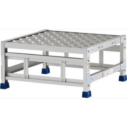 アルインコ 作業台(天板縞板タイプ)1段 (CSBC-13WS) 1台