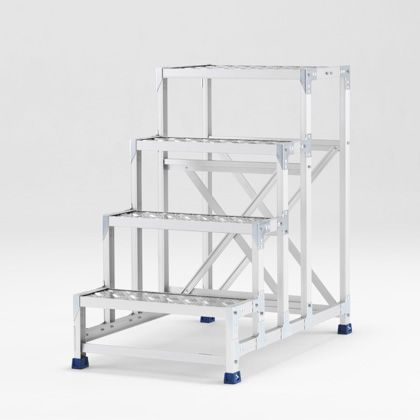 アルインコ 作業台(天板縞板タイプ)4段 (CSBC-4106S) 1台