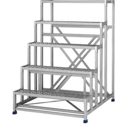 アルインコ 作業台(天板縞板タイプ)5段 (CSBC-5151S) 1台