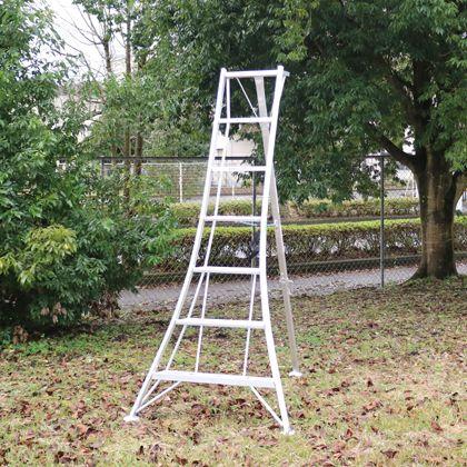 アルミ製園芸三脚 シルバー 天板高さ:2.02m (KWX210)