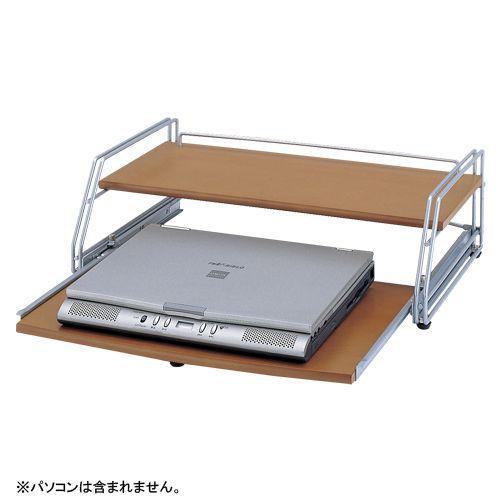 クラウン ノートパソコンラック 木目 CR-PA20-MG