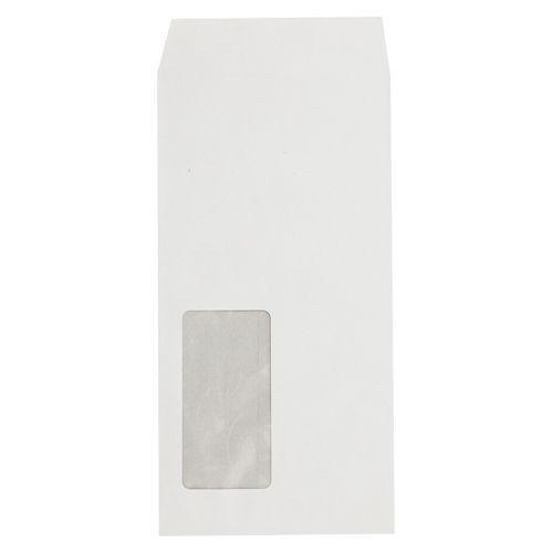 壽堂紙製品 マド付封筒長3ハーフトーン99透けない白 ホワイト (31470)  文具・OA機器 文具・事務用品