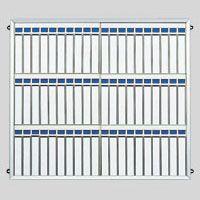 クラウン 名札掛(アルミ枠付) 60名用 (CR-NF600K-AL)  文具・OA機器 文具・事務用品