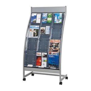 ナカキン パンフレットスタンド(R型前面表示タイプ (PSR-C304)  文具・OA機器 文具・事務用品