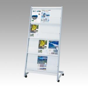 ナカキン パンフレットスタンド アクリル4段タイプ (KPA-A412)  文具・OA機器 文具・事務用品
