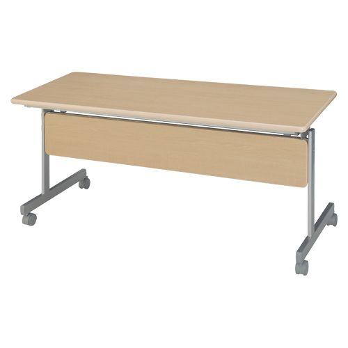 ハイテクウッド 跳上式スタックテーブル 巾1500mm ネオナチュラル (KSM1560-NN)  文具・OA機器 文具・事務用品
