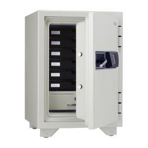キング工業 フェリカ認証耐火金庫 オフホワイト (KMX-50RFEA)  文具・OA機器 文具・事務用品