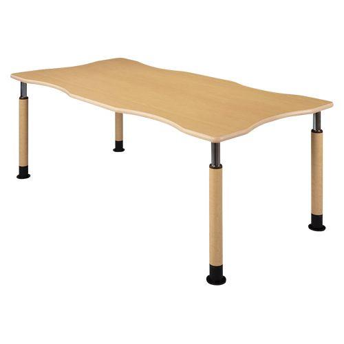 ハイテクウッド 昇降4本脚テーブル (UFT-4T1890R6+4L1)  文具・OA機器 文具・事務用品