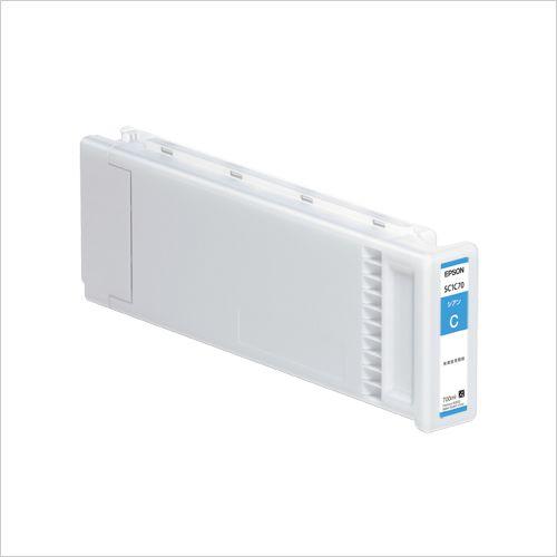 エプソン インクカートリッジ700lm シアン (SC1C70)  文具・OA機器 文具・事務用品