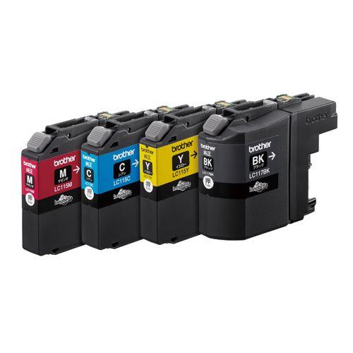 ブラザー インクカートリッジLC117/115-4 4色パック (LC117/115-4PK)  文具・OA機器 文具・事務用品