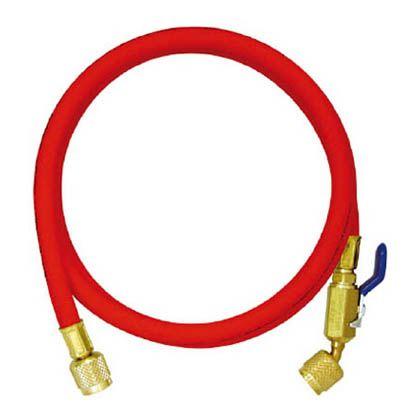 アサダ R410A用チャージングホースプラス2 ボールバルブ付 244cm 赤 (Y29608)