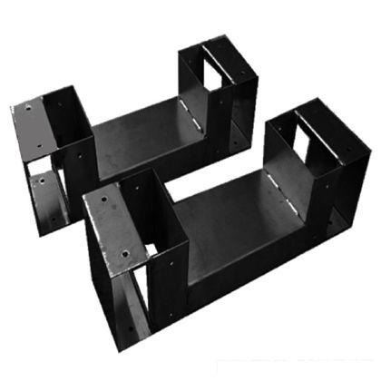 スノーカモシカ 2×4(ツーバイフォー)ラック金具 BK ブラック 幅340mm×奥行95mm×高さ95mm AI-24BK 棚 長椅子 薪ラック