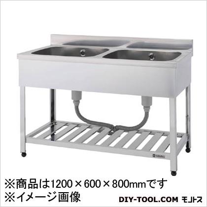 アズマ アズマ 二槽シンク(ホース付) 1200×600×800  HP21200