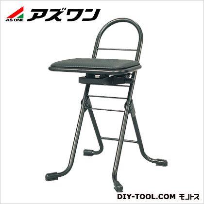 アズワン プロワークチェアー 黒 440×420×650mm (6-9114-01) 1個