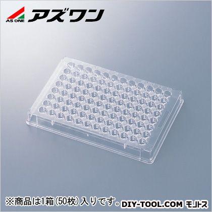 アズワン 96ウェルマイクロプレート 85.5×127.3×14.0mm 1-6776-04 1箱(50枚入)