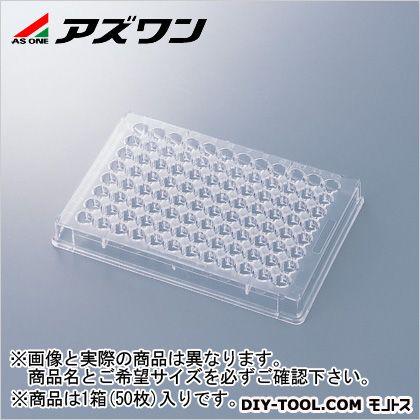 アズワン 96ウェルマイクロプレート 85.3×127.5×14.7mm 1-6776-06 1箱(50枚入)