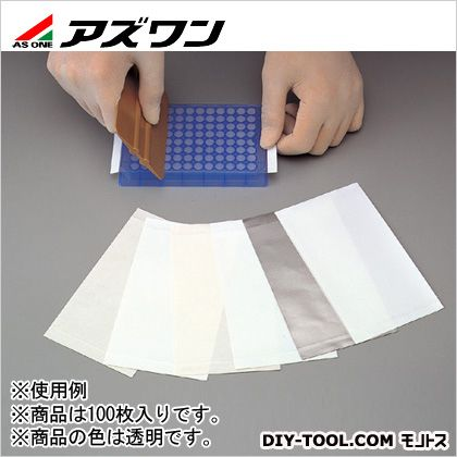 ※法人専用品※アズワン マイクロプレートシーリングテープ 透明 2-5747-04 100枚
