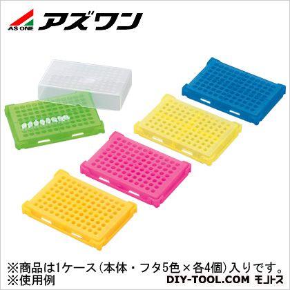 アズワン PCRラック 5色パック 130×90×30mm 1-4309-01 5色×4/箱