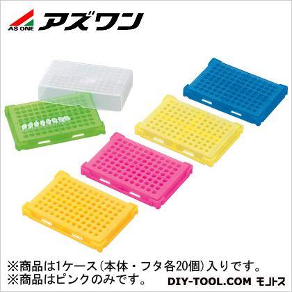 アズワン PCRラック ピンク 130×90×30mm 1-4309-05