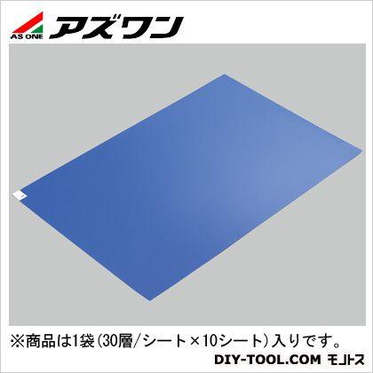アズワン エコノミー粘着マット 青 600×1200mm (2-4909-03) 1箱(30層/シート×10シート)