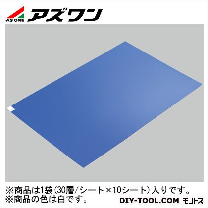 アズワン エコノミー粘着マット 白 600×1200mm (2-4910-03) 1箱(30層/シート×10シート)