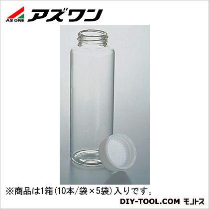 アズワン SCCスクリュー管瓶 白 110ml (7-2110-10) 1箱(10本/袋×5袋入)
