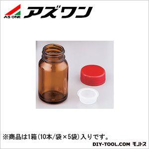 アズワン 規格瓶SCC 茶 108ml (2-4998-06) 1箱(10本/袋×5袋入)