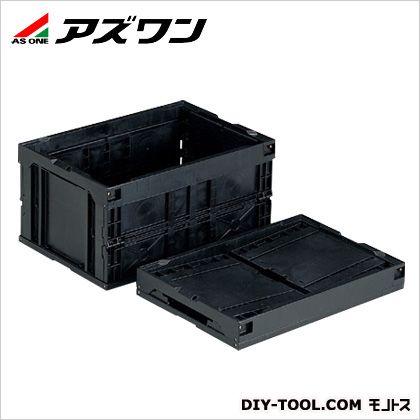アズワン 折りたたみコンテナー(導電) BK 76.9L 1-6406-04 1 個