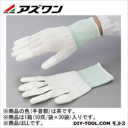 アズワン PUコート手袋オーバーロック 大箱 LL (1-2263-61) 1箱(10双/袋×30袋入)