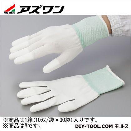 アズワン PUコート手袋オーバーロック 大箱 M (1-2263-63) 1箱(10双/袋×30袋入)