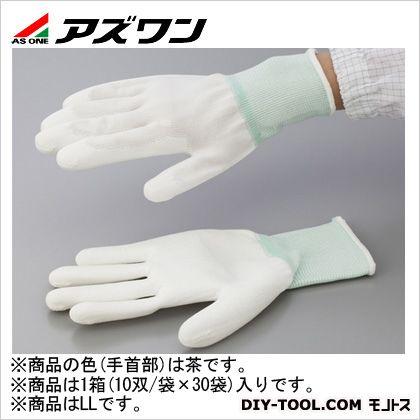 アズワン PUコート手袋オーバーロック 大箱 LL (1-2262-61) 1箱(10双/袋×30袋入)