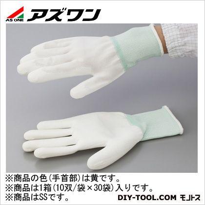 アズワン PUコート手袋オーバーロック 大箱 SS (1-2262-65) 1箱(10双/袋×30袋入)