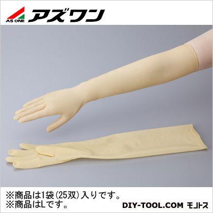 アズワン ラテックスロング手袋パウダーフリー L (1-1432-01) 1袋(25双入)