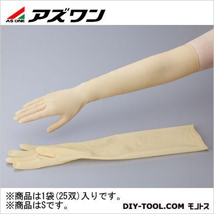 アズワン ラテックスロング手袋パウダーフリー S (1-1432-03) 1袋(25双入)