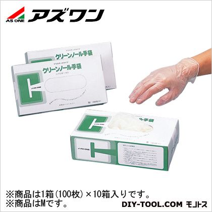 アズワン クリンノール PVCパウダー付 M (6-903-12) 1箱(100枚入)×10箱入