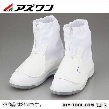 アズワン ショートブーツ A甲プロ付き 24.0cm (1-3273-01)