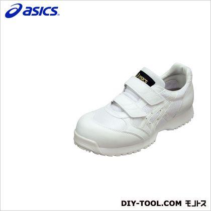 アシックス 静電気帯電防止靴 ウィンジョブE30S 0101ホワイト×ホワイト 25cm (FIE30S.0101 25.0)