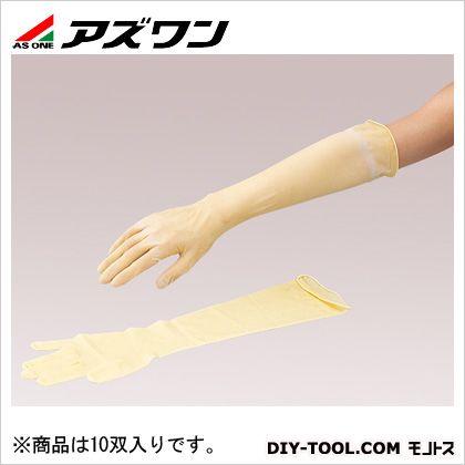 アズワン 天然ラテックスゴムロング手袋CIC M (2-4926-02) 10双