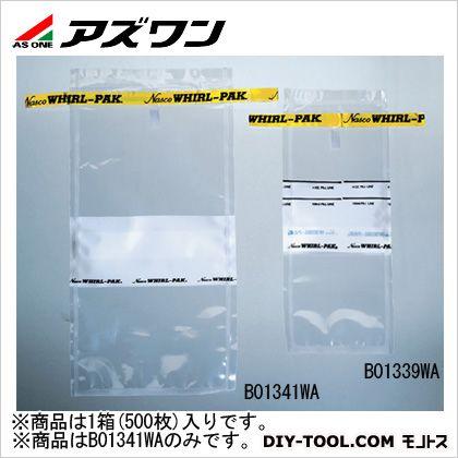 アズワン サンプリングバッグ 115×230mm540ml 2-6371-02 1箱(500枚入)