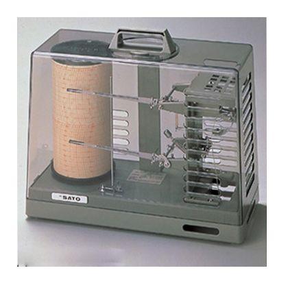 SATO 温湿度記録計 NSII-S(手巻式) (1-1014-02)