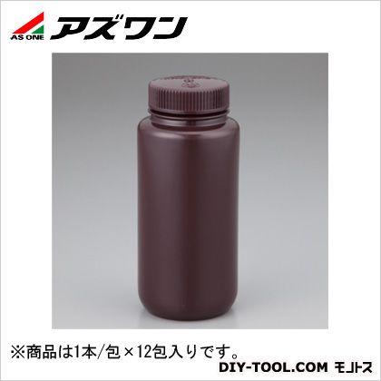 アズワン 広口試薬ボトル2106-0016 褐色 500ml 1-2687-05 1本/包×12包入