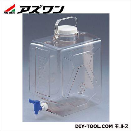 アズワン ナルゲン透明活栓付角型瓶 320×229×399mm20L 5-058-02 1 個