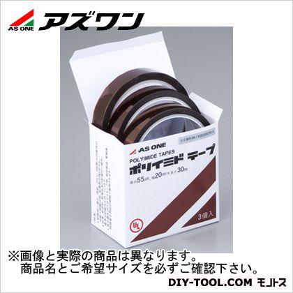 アズワン ポリイミドテープ 19.0mm×0.069mm×33m 1-3993-06 1箱(3巻入)