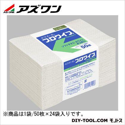 アズワン プロワイプ・ソフトタオル・帯止め ホワイト 2-1621-01 1袋(50枚入)×24袋