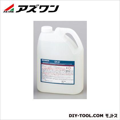 アズワン 超音波洗浄器用洗剤酸性 4L 1-1387-02